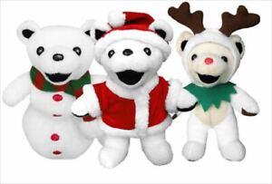 Grateful Dead BEAN BEAR KRINGLE RUDOLPH RED JACK A SNOW Set Christmas Plush Doll