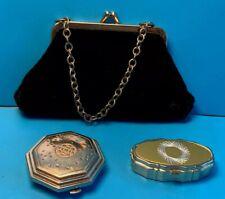Vintage Wristlet Clutch, Pill Box / Case & Le Debut Rouge/Loose Powder Compact