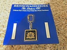 Vintage BENSON & HEDGES DELUXE 100 Key Chain Cigarettes Advertising Keychain1984