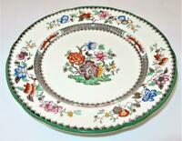 """Copeland Spode CHINESE ROSE 629599 Green Trim Floral, Luncheon Plate 9"""""""
