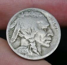 US Buffalo Nickel 5 Cent Coin 1918 D Good Coin (7)