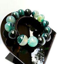 Bracelet Agate Verte en Pierre Naturelle Minéral Bijoux lithothérapie Pour Femme