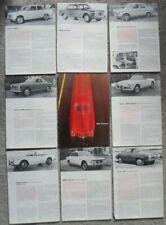ALFA ROMEO orig 1963 Brochure Portfolio - Giulia SS 1600 2600 Sprint Spider etc
