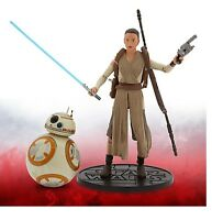 Disney Store Star Wars Force Awakens Rey w/ Lightsaber BB-8 Elite Series Figure