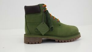 "TIMBERLAND YOUTHS 6"" WATERPROOF BOOT TB0A1MHQ MD GREEN - BRAND NEW IN BOX!!!"