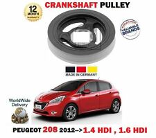 FOR PEUGEOT 208 1.4 HDi 1.6 HDI  DV4C DV6ETEDM 2012->NEW CRANKSHAFT BELT PULLEY