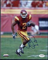 Steve Smith #2 USC All-American Signed 8x10 Photo New York Giants Receiver JSA