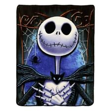 New Crypt The Nightmare Before Christmas GIFT Plush Throw Blanket Smiling Jack