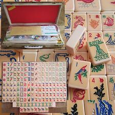 Unused, Vtg. 1969-70, Catalin Mahjong Set, 164 Tiles, Case Mah Jongg Bakelite