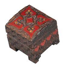 HEART BOX Polish Linden Wood Handmade Jewelry Ring Box Engagement Love Keepsake