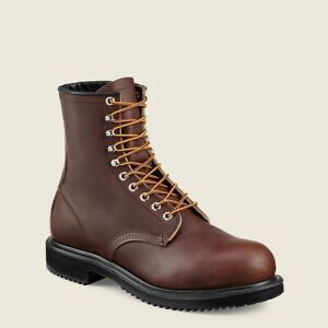 Red Wing Boots 8 Inch Supersole Made in USA Brown Leather ASTM F2413-11 Sz 8.5