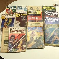 15 Vol ASTONISHING STARTLING Science Fiction Sci-Fi Pulp Magazine Lot Damaged