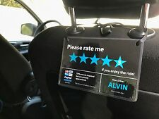 2 x Uber Lyft Tips 5 Stars Rating Paypal Venmo Sign - Custom Made with your name