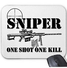 SNIPER One Shot One Kill-Tappetino Mouse/pad sorprendente design
