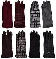 Ladies Women Gloves Touch Screen Fleece Lined Fashion Winter Cosy Warm Soft Knit