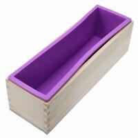 Moule en silicone souple 1pc avec boîte en bois pour savon à gâteau