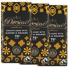 Divine 70% Chocolat Foncé Avec Ginger & orange (lot de 3 ou Multi-Achat) 90 g Ch...