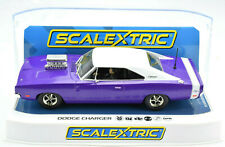 Scalextric Purple Dodge Charger W/ Blower DPR W/ Lights 1/32 Slot Car C4148