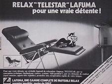 PUBLICITÉ DE PRESSE 1979 RELAX TELESTAR LAFUMA - CHAT - ADVERTISING