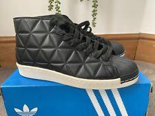 Adidas Originals Superstar Hi Tops Trainers Black Size 8