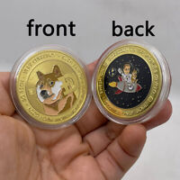 New type Gold Colored Dogecoin DOGE Coin WOW Crypto Currency coin