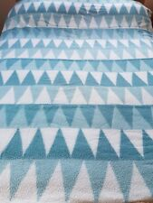 Vintage retro Witney duck egg blue white geometric blanket vw camp 50s 60s 70s