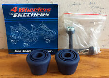 Skechers 4 Wheelers Replacement Stops (2) With Key Chain Skate Tool Navy Blue