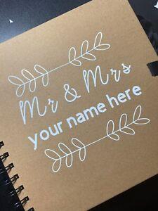 Personalised Wedding Guestbook Scrapbook