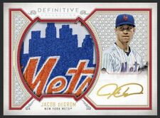 2019 Topps Bunt JACOB deGROM Definitive RED JUMBO Signature Relic 5cc *DIGITAL*