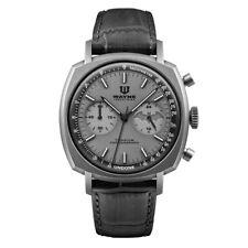 Undone Batman Chronograph Mechanical Hybrid Quartz Titanium Leather Men's Watch
