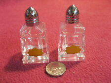 Vintage Hand Cut Polished Crystal Footed Salt and Pepper Shakers 30