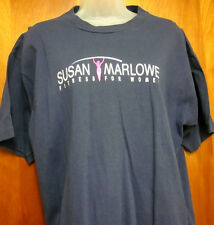 SUSAN MARLOWE lrg T shirt Fitness for Women logo Scarsdale Spa beat-up tee