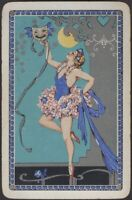 Playing Cards Single Card Old Vintage ** BALLET DANCING GIRL ** Stage Dance MOON