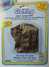 c Camo Cargo Pants fits most WEBKINZ cat dog pet CLOTHING new with code