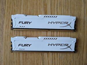 HyperX Fury 16GB DDR3 1866MHz RAM Memory (2x8GB) White