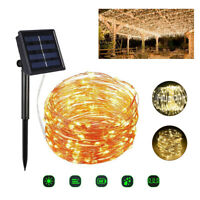 20M 200LED Solar Fairy String Light Copper Wire  Outdoor Waterproof Garden Decor
