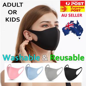 Washable Adult  Kids Reusable Unisex Face Mask Mouth Protective 24Hr Dispatch AU
