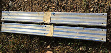 1963 64 CHEVROLET CORVETTE 13 GROOVE SILL STEP PLATES PAIR USED
