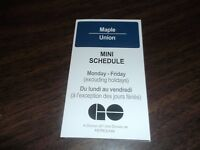 SEPTEMBER 2016 GO TRANSIT GOVERNMENT OF ONTARIO  MAPLE UNION MINI SCHEDULE