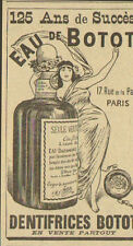 DENTIFRICE EAU DE BOTOT PARIS RUE DE LA PAIX PUBLICITE ADVERTISING 1897