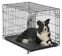 MidWest Homes for Pets Dog Crate | Door iCrate Single & Double Door