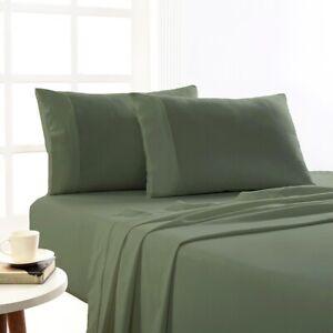 Park Avenue 175 GSM Egyptian Cotton Flannelette  Plain dyed Sheet Sets Fern