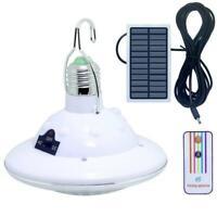 22LED Solarbetriebene Camping Lampe Fernbedienung Hängen Outdoor Indoor Licht