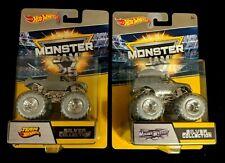 Hot Wheels (2) Monster Jam Silver Collection Trucks...unopened