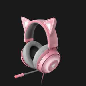 Razer - Kraken Kitty Wired Stereo Gaming Headset with RGB lighting Pink KT Cat