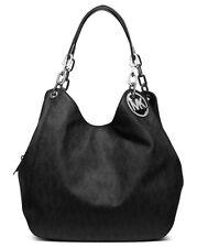 NWT! MICHAEL KORS Fulton Shoulder Large Tote Bag Signature MK Logo Black $398
