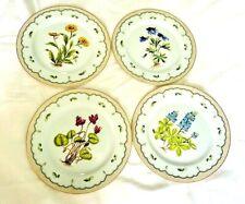 """12 Georges Briard Victorian Garden Botanical Dinner Plates 10.25"""""""