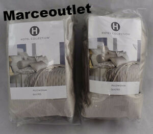 Hotel Collection Fresco STANDARD Quilted Pillowshams Soft Gold