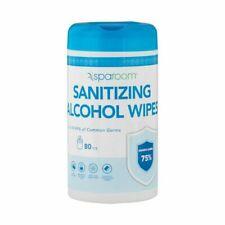 NEW TWO 2 Sparoom 75% 160 Alcohol Wipes 80 Pcs PER Factory Sealed KILLS 99.99%