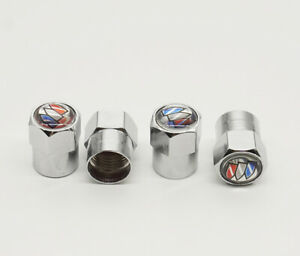 4x Car Tire Valve Stems Caps Wheel Air Valve Dust Covers Styling Logo For Buick